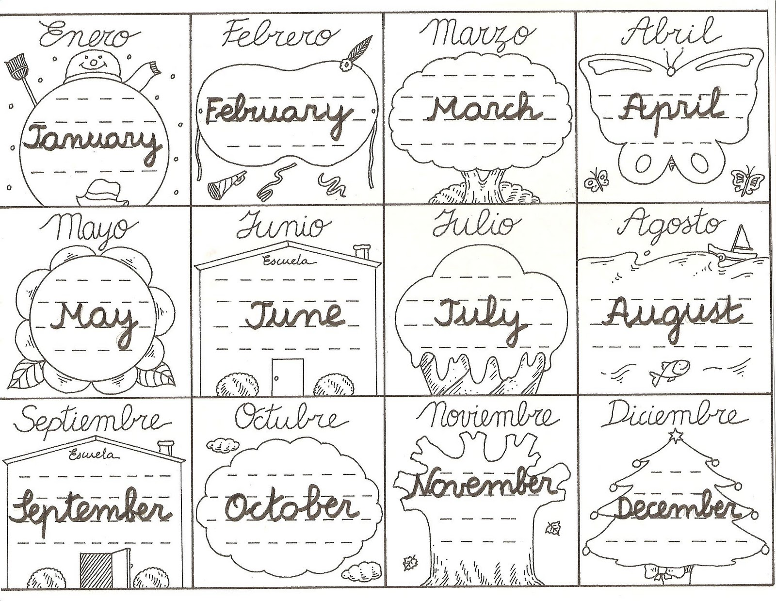 Bilingual Al Yussana Basic English Months Of The Year
