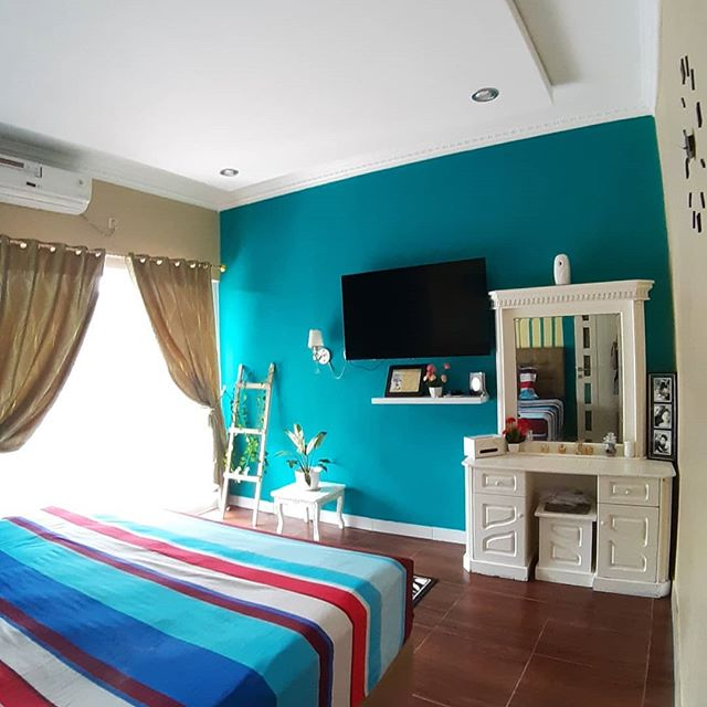 Dekorasi Kamar Tidur Warna Biru Dongker Menghias Kamar Rumah