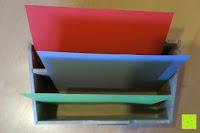 Fächer: Eurosell Holz Schreibtischorganizer Brief Post Ablage Briefablage Postablage Briefständer Vintage Retro Design Designer Dokumenten Prospekte Ständer