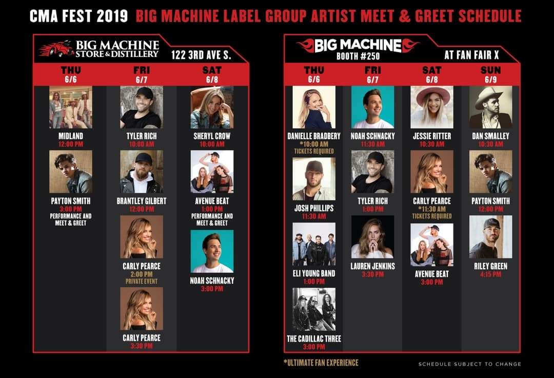 Big Machine Store and Fan Fair Booth #CMAFEST Signings