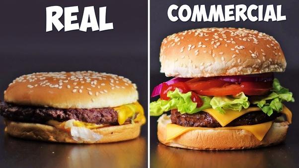 Reklamlardaki hamburgerler