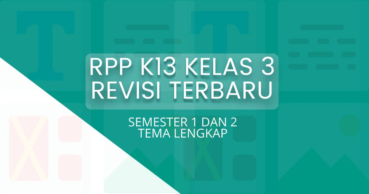 RPP K13 SD Kelas 3