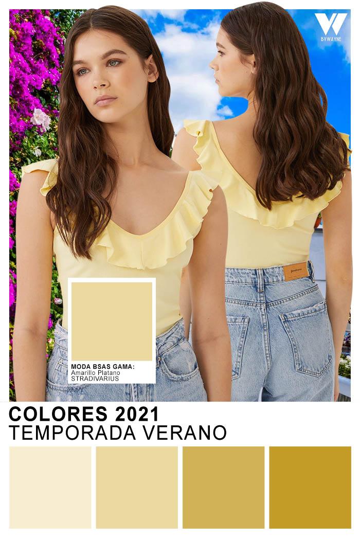 Colores 2021 Moda primavera verano 2021 Amarillo Platano