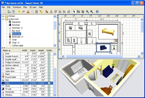 Home furniture design software dreams house for Home furniture design software