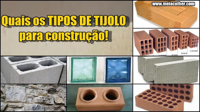 vários tipos de tijolos