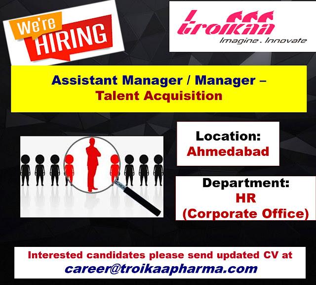 Urgent Vacancy at Troikaa Pharma