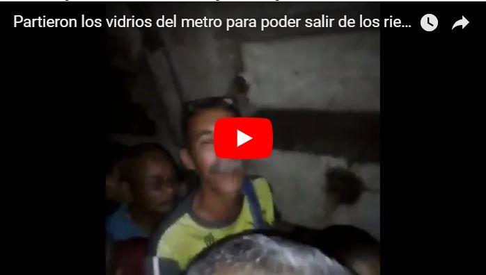 Partieron los vidrios del Metro de Caracas para poder salir de los rieles tras un apagón
