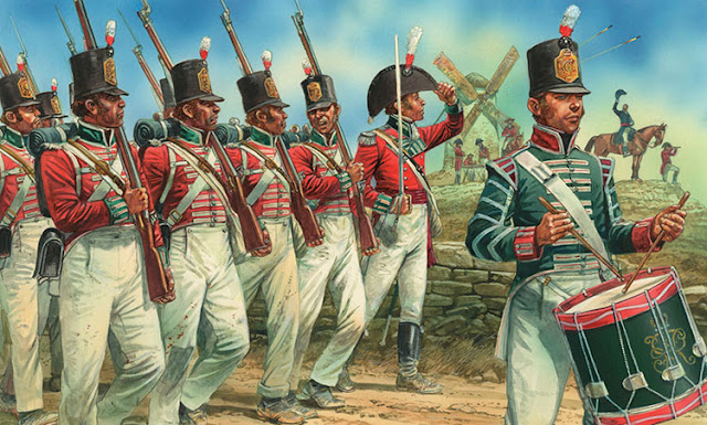 Playmobil 3544, casacas rojas guerras napoleónicas - Waterloo  (Playmobil 3544 - redcoats)