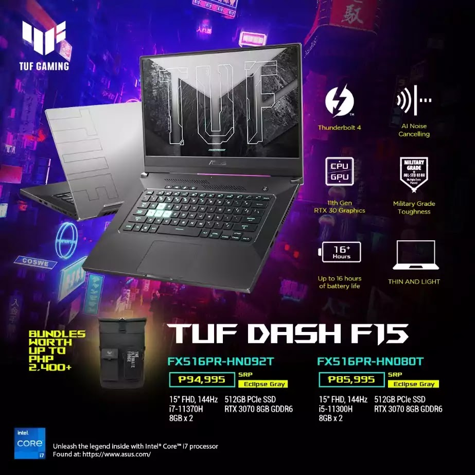TUF Dash F15 Price and Specs