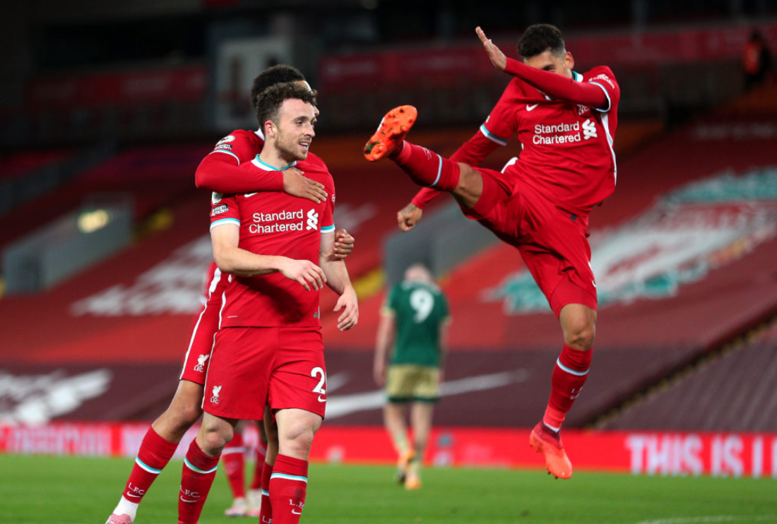 Liverpool's Diogo Jota and Roberto Firmino secured the win for the Reds last weekend