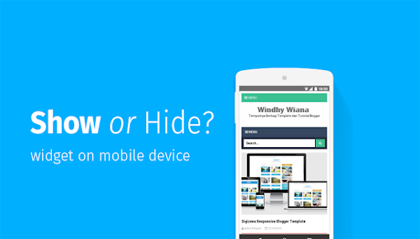 How to hide or display widgets on a mobile device