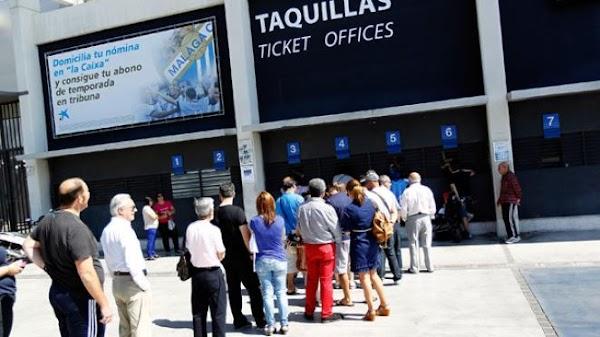 Málaga, vendidas 4.000 entradas del partido ante el Mallorca