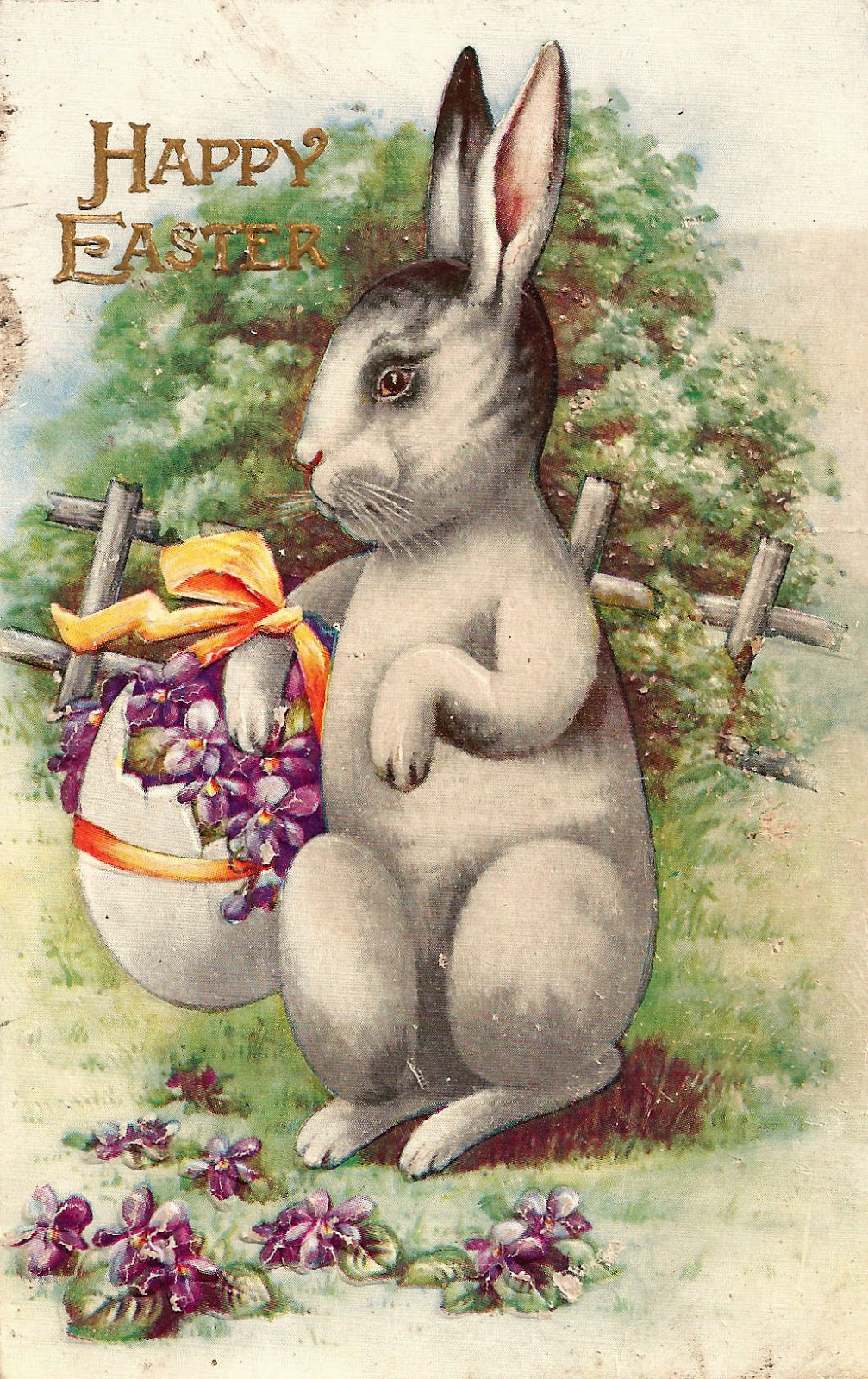 Antique Images: Free Easter Clip Art: Vintage Easter Bunny ...