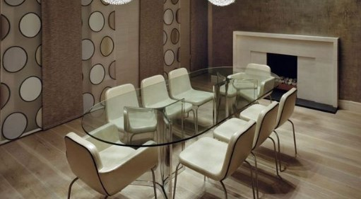 Trendy interior design in modern townhouse decorating for Dining room ideas for townhouse