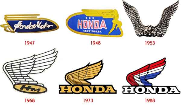 logo motor honda dari waktu ke waktu