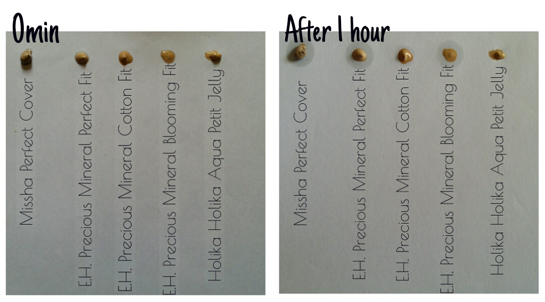 ETUDE HOUSE Precious Mineral Perfect Fit BB Cream Review oil test