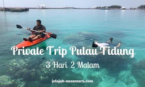 paket wisata private pulau tidung