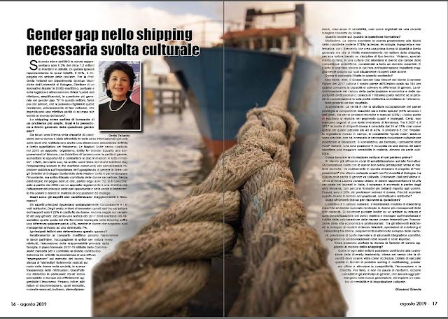 AGOSTO 2019 PAG. 16 - Gender gap nello shipping necessaria svolta culturale