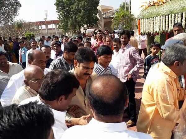 Pawan kalyan at Bandaru Dattatreya daughter Wedding photos