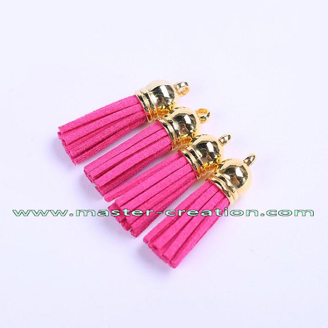 pink PU tassels
