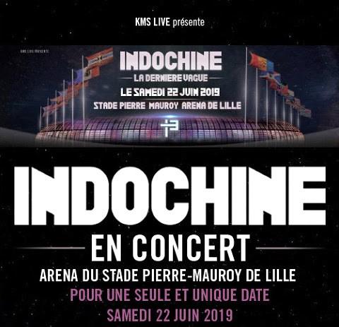 Indochine en el Arena del Estadio Pierre-Mauroy de Lille