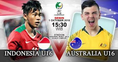 Jadwal Timnas Indonesia vs Australia - Perempat Final Piala Asia U-16