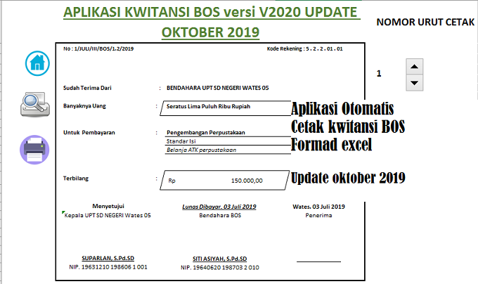 Kwitansi Bos Update Oktober 2019