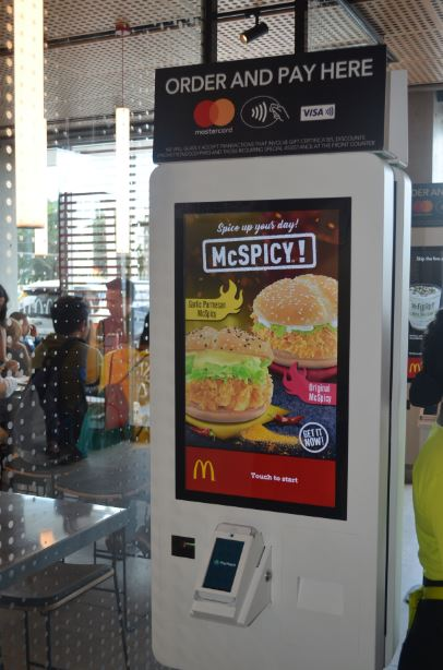 McDonald's NXTGEN Self-Ordering kiosk.