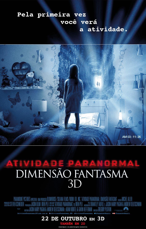 Atividade Paranormal 5: Dimensão Fantasma 3D ganha primeiro cartaz nacional