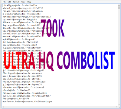 700K ULTRA HQ COMBOLIST [GAMING,SHOPPING,STREAMING,MUSIC,PORN,VPN AND MORE]