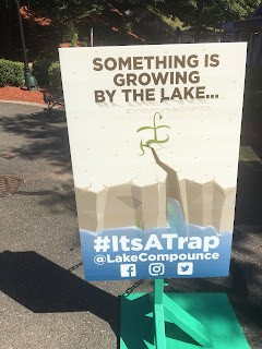 #ItsATrap Something is Growing By the Lake Lake Compounce Poster