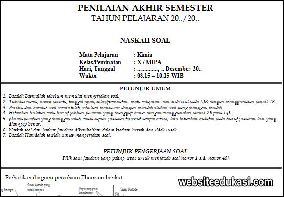 Soal Pas Kimia Kelas 10 Kurikulum 2013 Tahun 2020 2021 Websiteedukasi Com