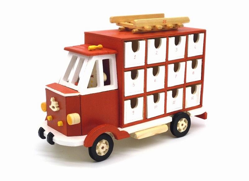 wooden truck advent calendar