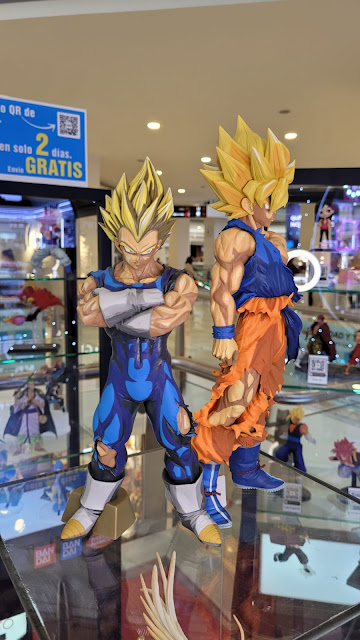 exposición de figuras Banpresto en el C.C. La Vaguada (Madrid)