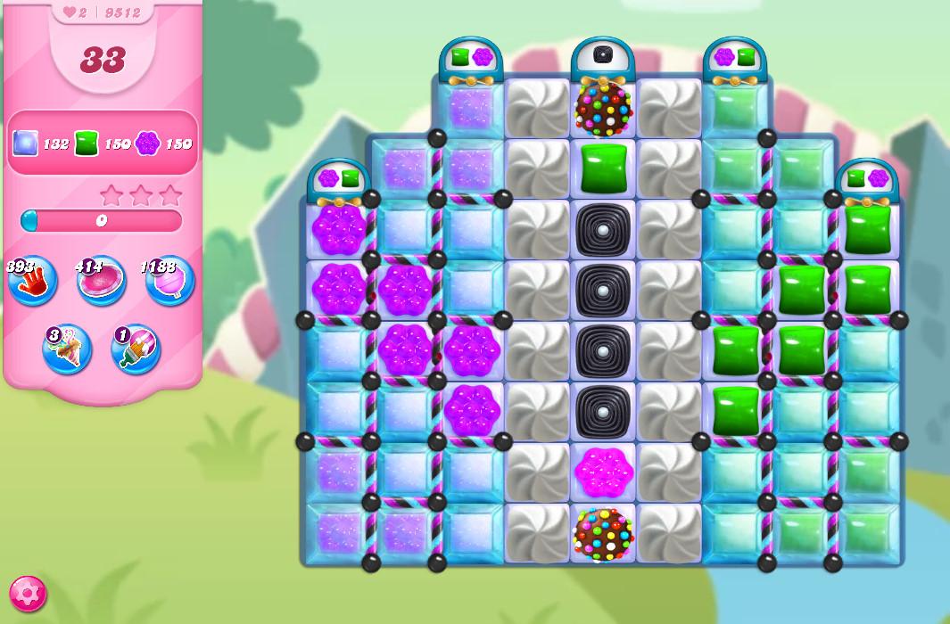 Candy Crush Saga level 9512