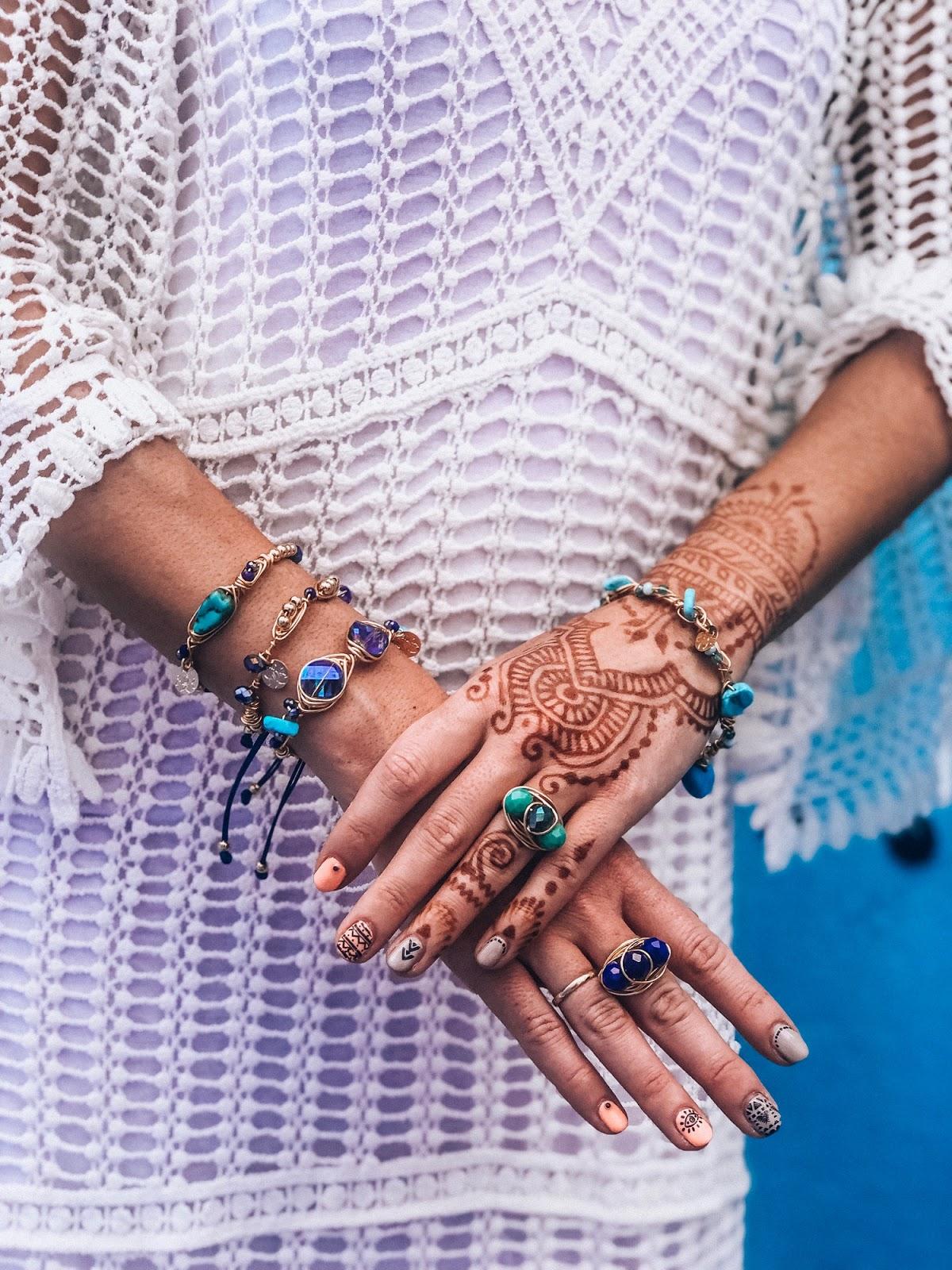 joyas cristales y alambre