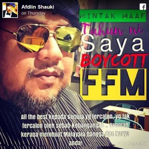 Punca Afdlin Shauki boikot FFM28 (3 gambar)