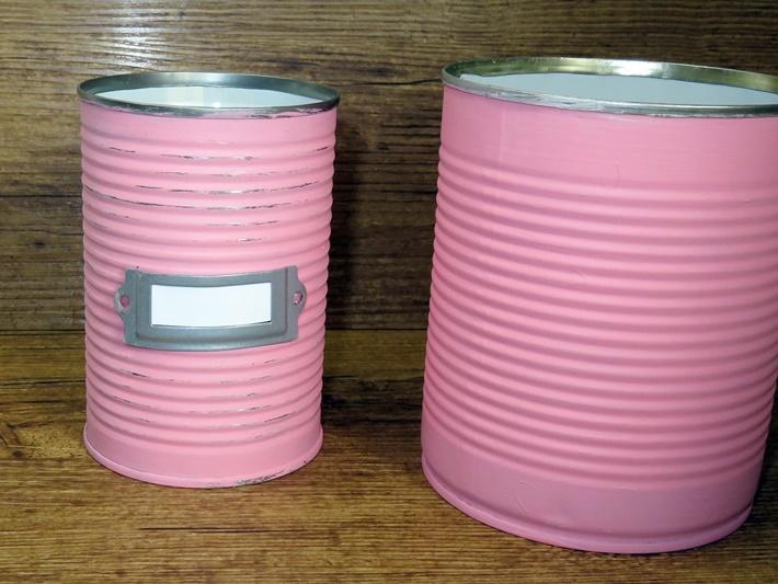 Bemalte Dosen - Upcycling