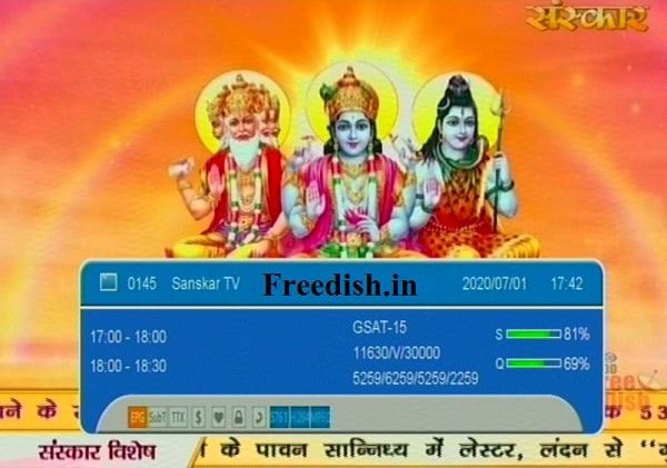 Sanskar TV Frequency, Sanskar TV Channel Number, Sanskar TV Setting set-top box