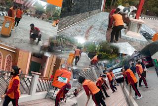 Bersih - Bersih Rumah Ibadah, Polres Tana Toraja Menuju HUT Bhayangkara Ke 75