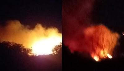 Moradores denunciam incêndios frequentes no Lixão de Ilha Grande-PI