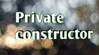 Private constructor in c# is a special type of function which name same as the class name. If any class having private constructor it means that we can't create the object of that class. Over you if you want to create the object of class which have private constructor then you have to take a default constructor in your class