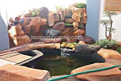 Jasa Tukang Relief Kolam Tebing Sragen | Jasa Pembuatan Dekorasi Kolam Air Terjun di Sragen