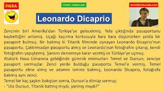 Komik Fıkralar - Temel Fıkraları - Leonardo Dicaprio - Komikler Burada