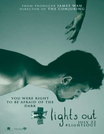 Lights Out 2016 Dual Audio 720p BRRip [Hindi – English] ESubs