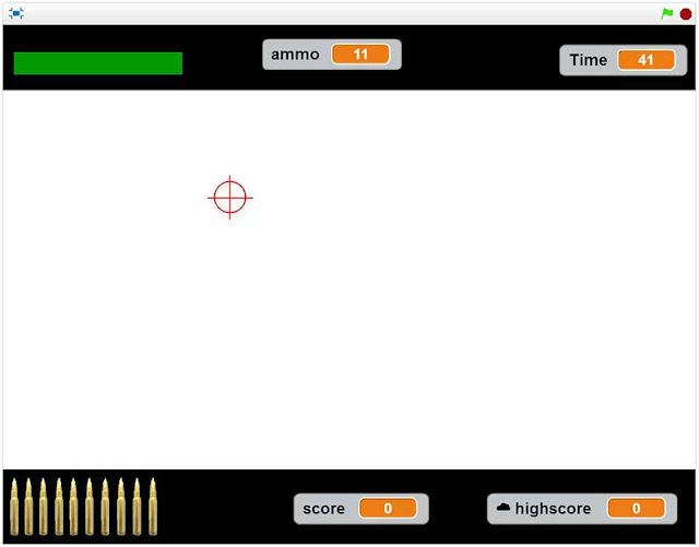 2D game interface for a shooter game