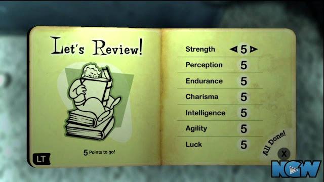 Caractéristiques dans Fallout