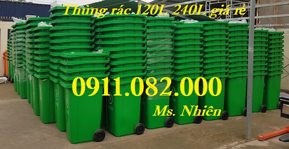 Mua bán giá rẻ thùng rác 120L 240L 660L tại kiên giang- thùng rác 3 ngăn-lh 0911082000