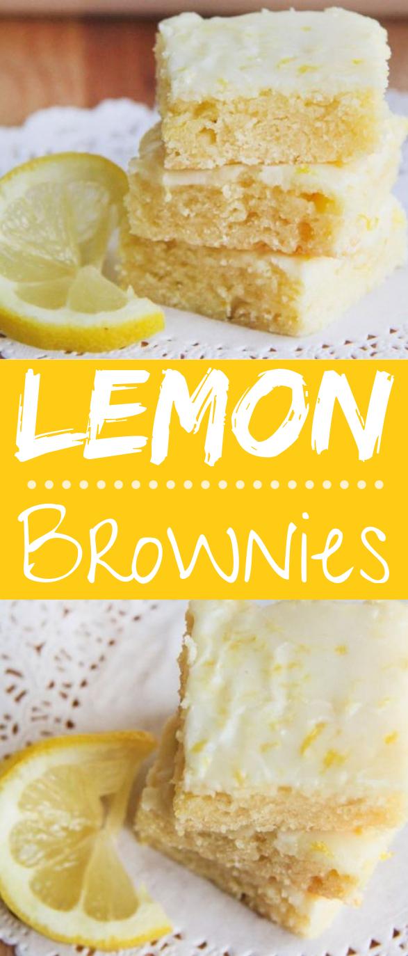 Lemon Brownies #desserts #cake