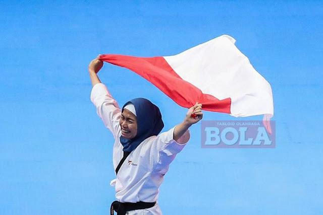 siapa penyumbang Medali Emas pertama bagi Indonesia di ASIAN Games 2018